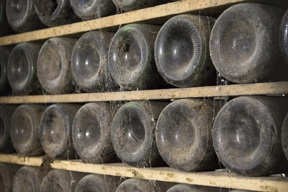Bubbels om het jaar mee af te sluite